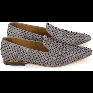 Anna Ricci Woven Leather Embellished Closed Shoe